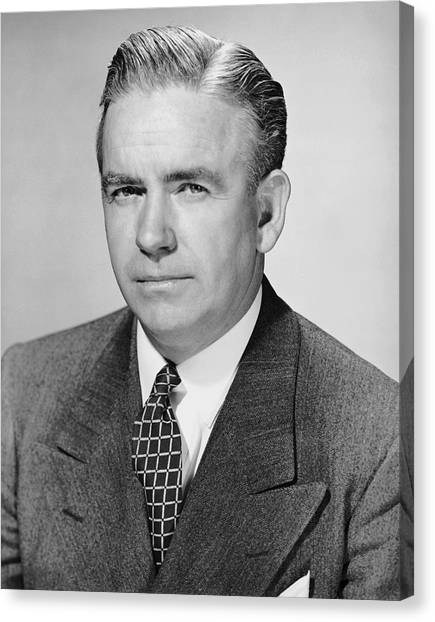 Portrait Of Businessman Canvas Print by George Marks