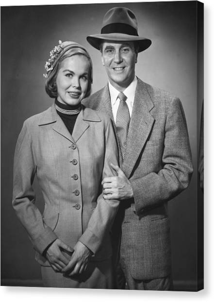 Portrait Of Couple Canvas Print by George Marks