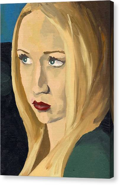 Portrait Of Emily Canvas Print
