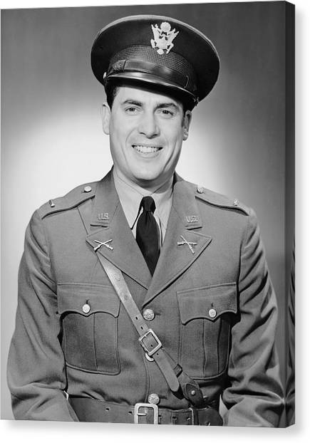 Portrait Of Man In Uniform Canvas Print by George Marks