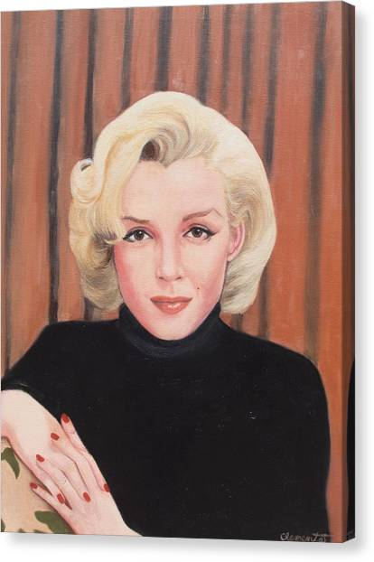 Portrait Of Marilyn Canvas Print