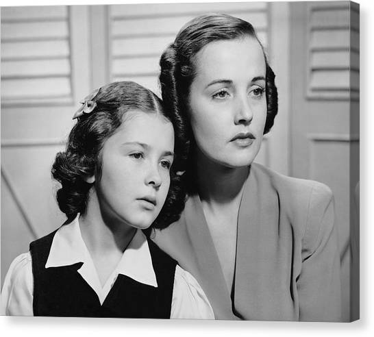 Portrait Of Mother & Daughter Canvas Print by George Marks