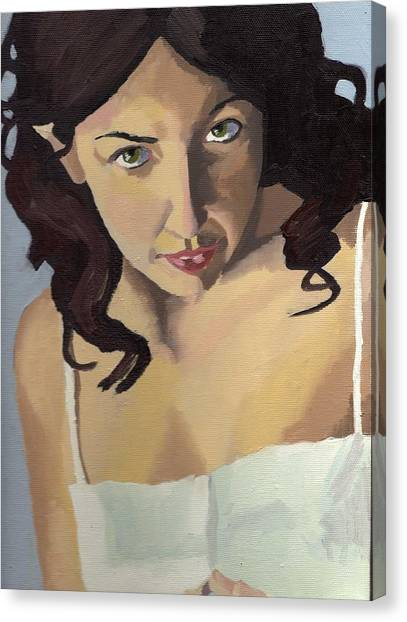 Portrait Of Zoe Canvas Print