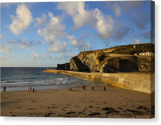 Bodyboard Canvas Print - Portreath Beach by Ken Brannen