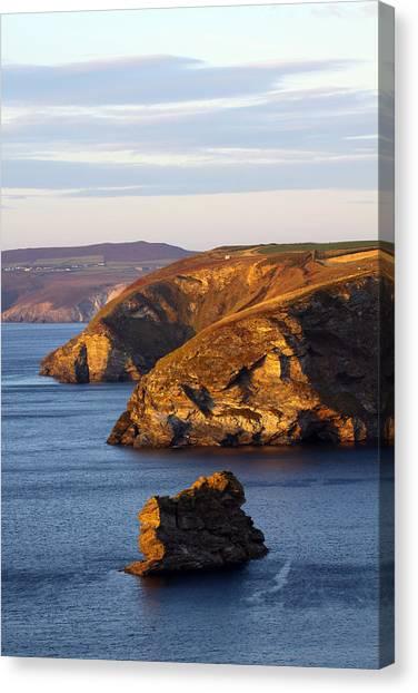 Portreath North Cliffs Canvas Print