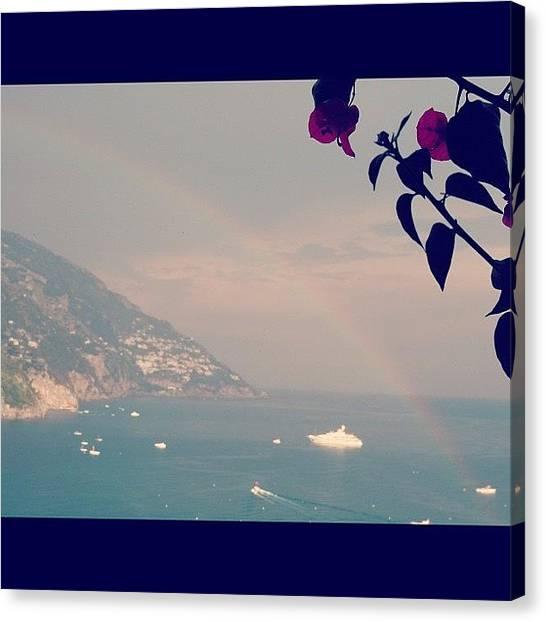 Yachts Canvas Print - Positano Italy by Lana Rushing