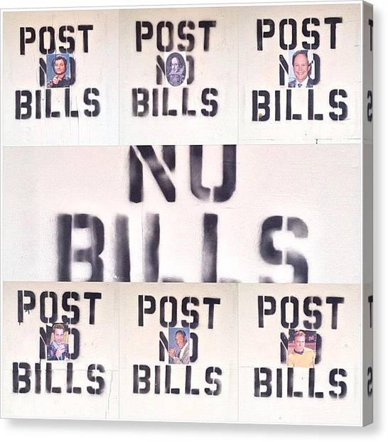 Bacon Canvas Print - Post No 'bill's' by Neil Bacon