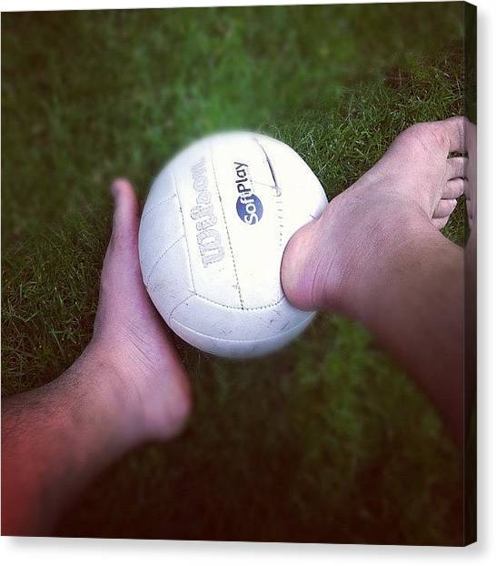 Volleyball Canvas Print - Post Work Out. #volleyball #sand by Raks Nation