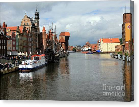 Postcard From Poland Canvas Print by Sophie Vigneault