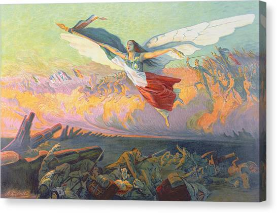 Mercy Canvas Print - Poster For The National Loan by Michel Richard-Putz