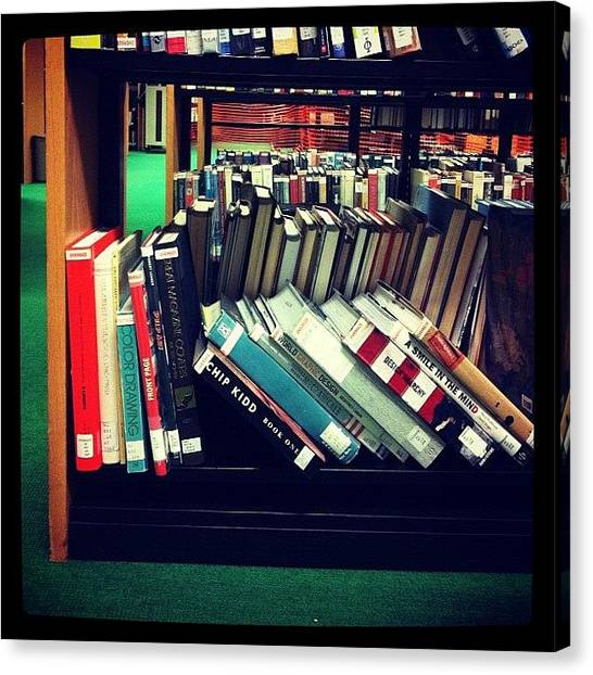College Canvas Print - Potter Library by Kristenelle Coronado