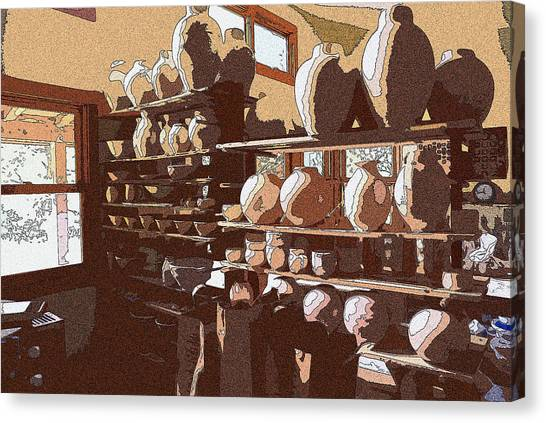 Potter's Shelf Canvas Print