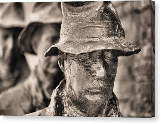 Franklin D. Roosevelt Canvas Print - Poverty II Bw by JC Findley