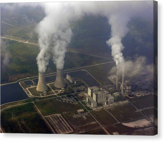 Nuclear Plants Canvas Print - Power Plant - 1 by Randy Muir