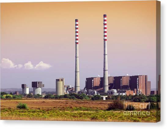 Nuclear Plants Canvas Print - Power Plant by Carlos Caetano