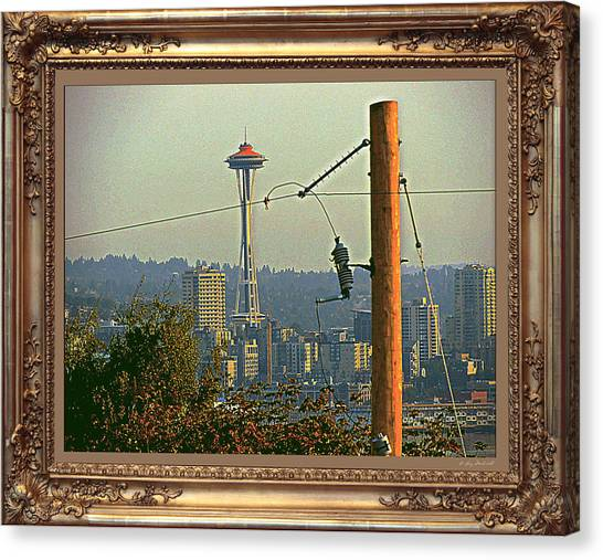 power Poles as Art - 6 Canvas Print by Larry Mulvehill
