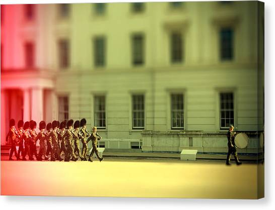 Royal Guard Canvas Print - Practice Makes Perfect by Jasna Buncic