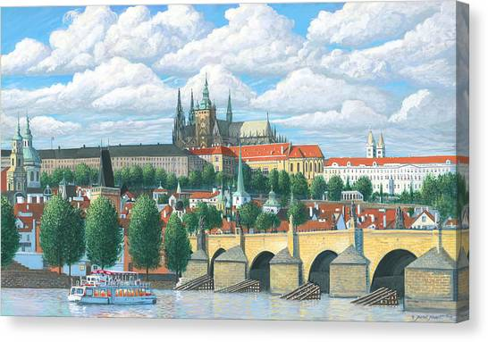 Prague And The St. Charles Bridge Canvas Print by Patrick Funke