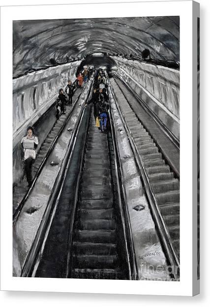 Prague Underground Canvas Print by Barry Rothstein