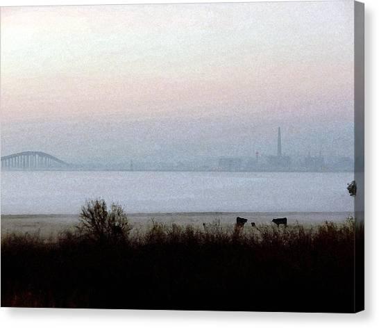 Pre-dawn Fog Canvas Print