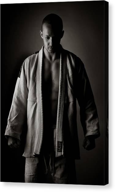Jujitsu Canvas Print - Preparation by Charlie Moss