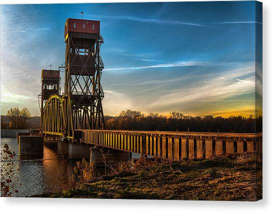 Preston'strain Bridge Canvas Print