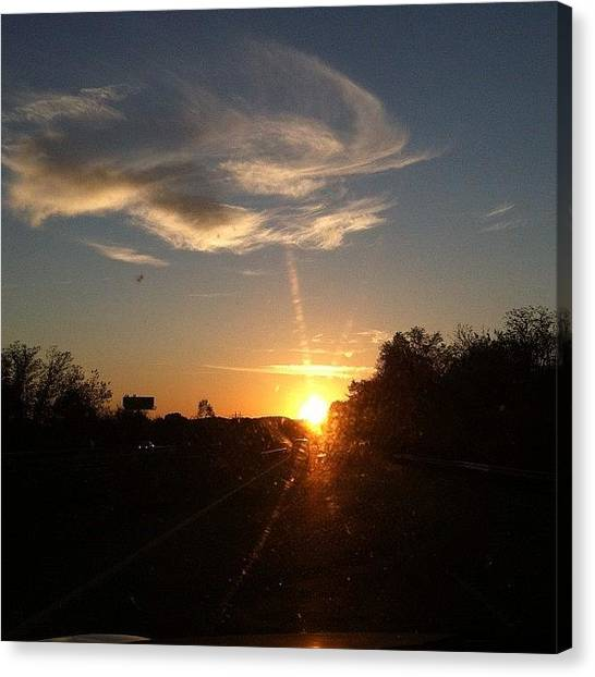 Interstates Canvas Print - #pretty #beautiful #driving #interstate by S Smithee