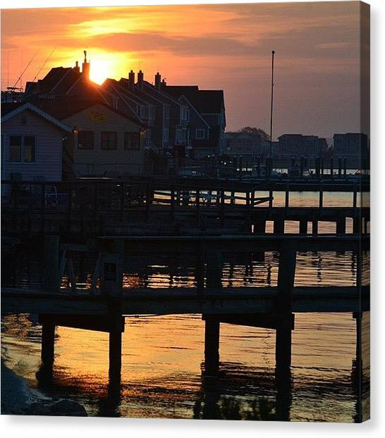 Beach Sunrises Canvas Print - ✨✨pretty Cool Way To Start My by Penni D'Aulerio