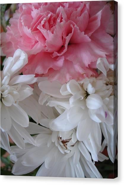 Pretty Pastel Petals Canvas Print by Yvonne Scott