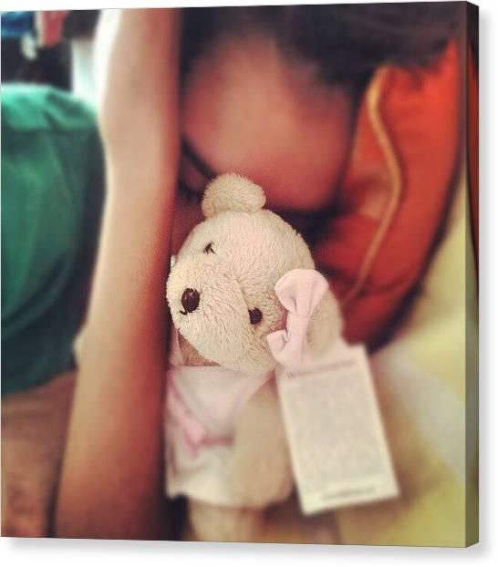 Teddy Bears Canvas Print - @prettypinksnowflake #teddy #bear by Indraneel Banerjee