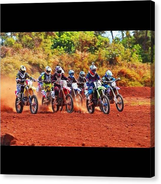 Yamaha Canvas Print - Preview Of The Kauai Race by Devin Parado