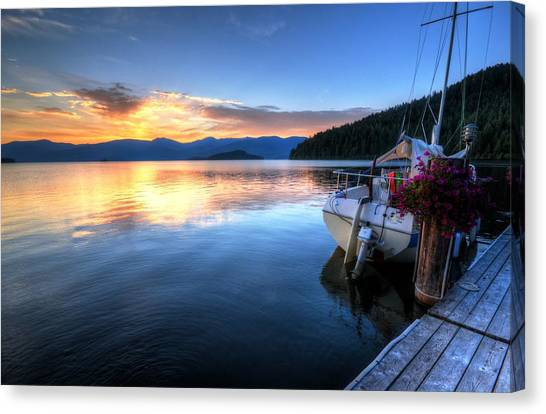 Canvas Print featuring the photograph Priest Lake Awakens by Matt Hanson