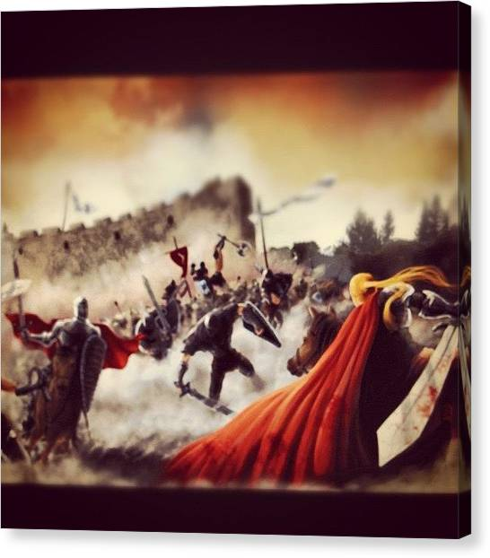 Dragons Canvas Print - Prince Of Battle by Ilker Yuksel