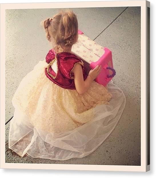 Princess Canvas Print - Princess Dress & Barbie Time by Ke-Ke Sayers