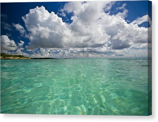 Carribbean Canvas Print - Pristine Turquoise Water Off The Coast by Michael Melford