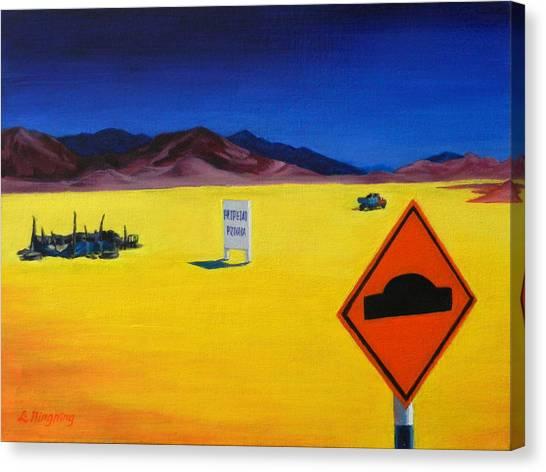 Private Property, Peru Impression Canvas Print