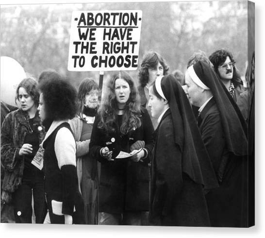 Abortion Canvas Print - Pro-life Then Called Anti-abortion by Everett