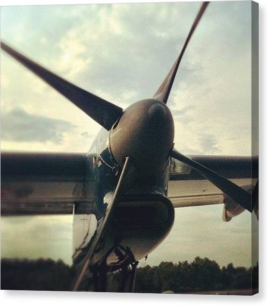 Prop Planes Canvas Print - Propeller At Sunset by Lindsay Bell