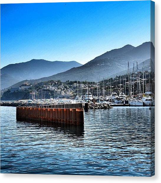 Yachts Canvas Print - Propriano, Corsica by Heather Meader