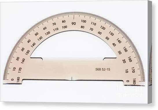 Protractors Canvas Print - Protractor by Photo Researchers, Inc.