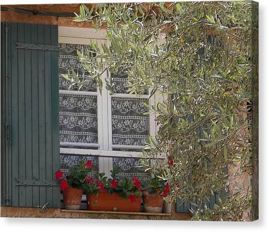 Provensale Window Canvas Print