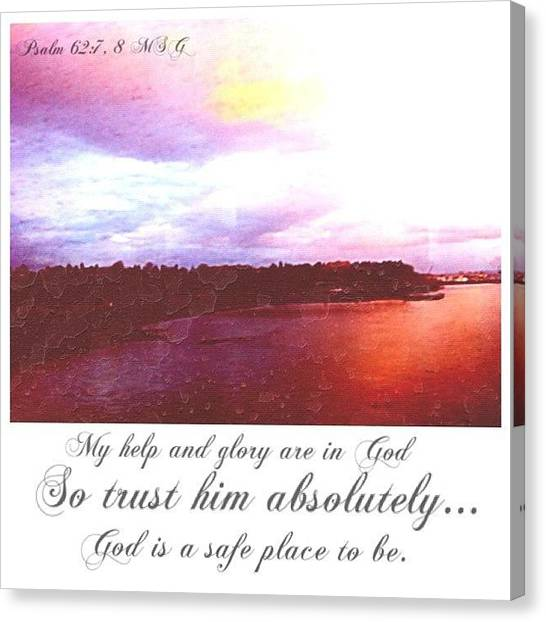 Spiritual Canvas Print - Psalms And Skies by Esther Filip
