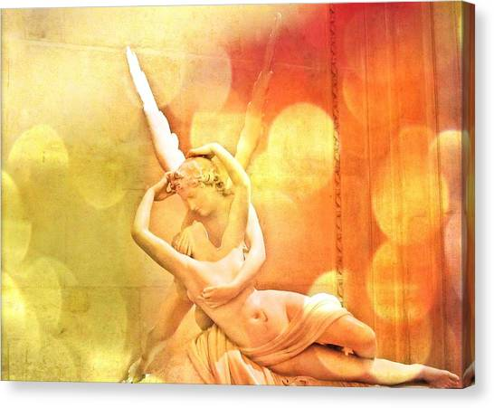 Cupid Canvas Print - Psyche Revived By Cupid's Kiss by Marianna Mills