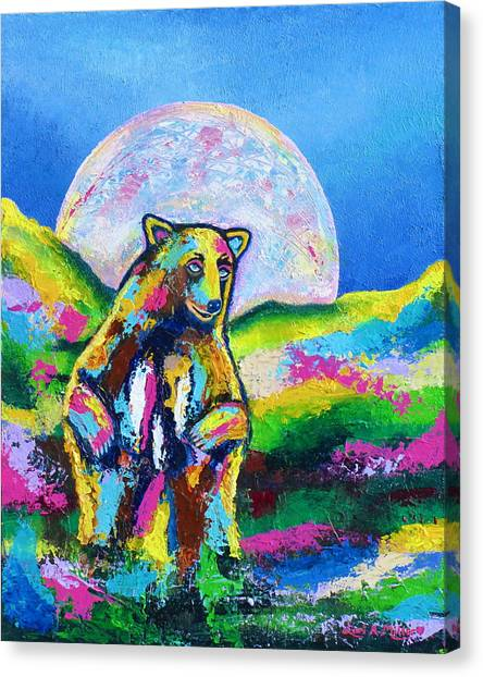 Psychedelic Bear Canvas Print