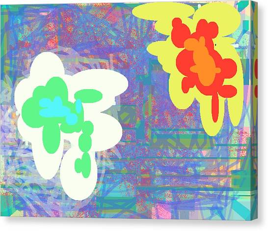 Psychedelic Drips Visit The Water Lilies Canvas Print