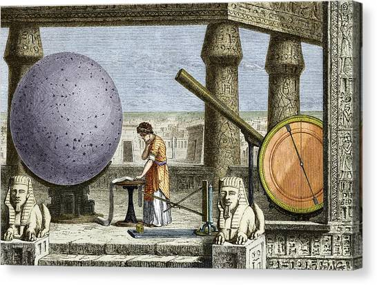 Ptolemy's Observatory, 2nd Century Ad Canvas Print by Sheila Terry