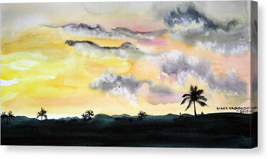Puerto Rico Sunset Canvas Print by Diane Vasarkovy