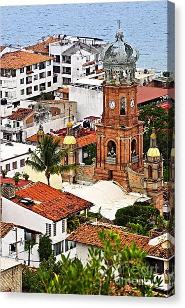 Puerto Canvas Print - Puerto Vallarta by Elena Elisseeva