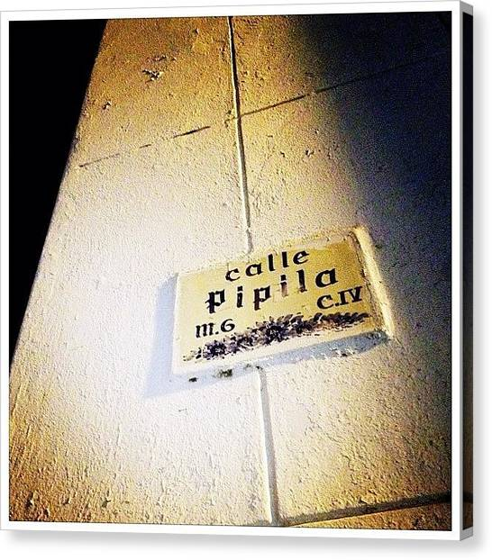 Mexican Canvas Print - Puerto Vallarta Street Sign by Natasha Marco