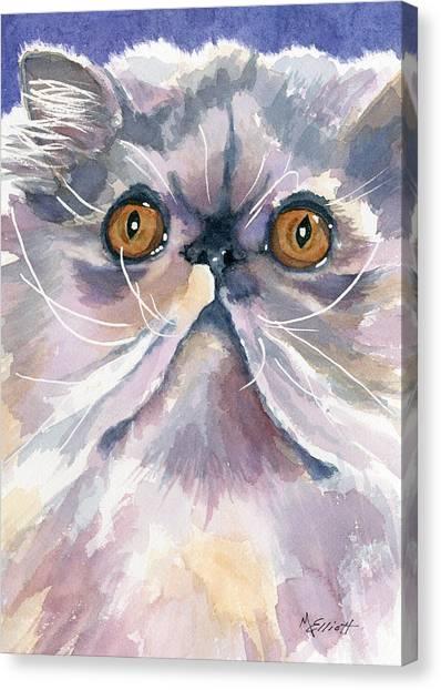 Persians Canvas Print - Puffball Of Sweetness by Marsha Elliott